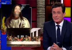Stephen Colbert, Pastor Bill Levin and the First Church of Cannabis