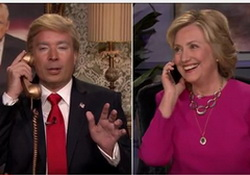 Jimmy Fallon as Donald Trump Phones Hillary Clinton with Fantastic Advice!