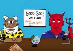 Funny or Die Exclusive: Good God! God talks NFL Football Twith Satan