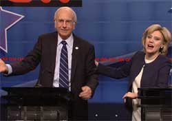 SNL: Larry David is Bernie Sanders in the CNN Debate