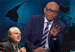 Larry Wilmore, Rush Limbaugh water on Mars conspiracy
