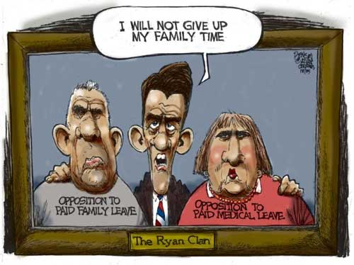 Moderate Republican Paul Ryan will not give up family time!