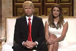 SNL Donald and Melania Trump