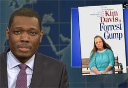 SNL Weekend Update, Pope Francis and Kim Davis, Oct 3 2015