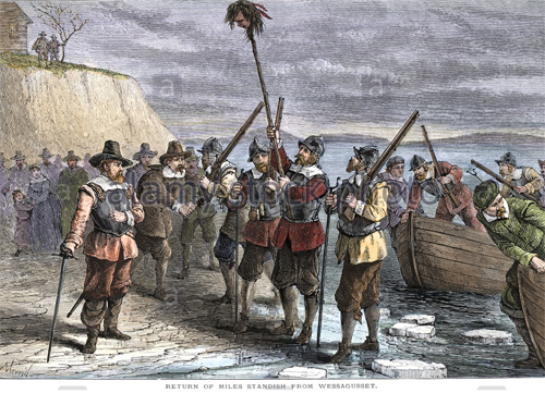 Beheading of Indian saves Plymouth Pilgrims from annihilation!