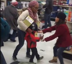 Anti Black Friday, White woman steals steamer from Black Child