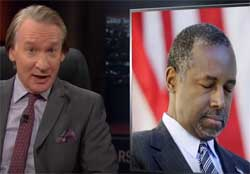 New Rules Bill Maher, Ben Carson incompetent & crazy, Nov 6 2015