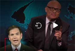 Larry Wilmore makes a fool of Marco Rubio