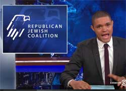 Daily Show Adam Lowitt Republicans pandering to Jews