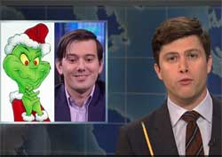 SNL Weekend Update, Martin Shkreli arrested and hacked, Dec 19 2015