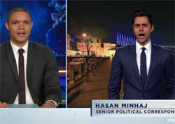 Daily Show Hasan Minhaj, WHITE ISIS, Donald Trump 1/3 of Republicans