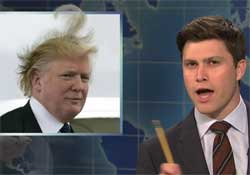 SNL Weekend update, Big question mark on Trumps head, Jan 16 2016