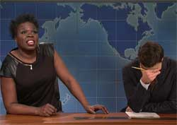 SNL Weekend Update, Leslie Jones loves Leanardo Diacaprio Jan 23 2016
