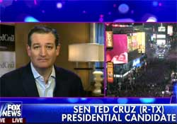 Fox News bring in New Year with Ted Cruz going on and on and on