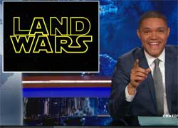 Daily Show, armed radical Christian terrorists takeover federal building in Oregon
