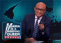 Larry Wilmore, a tear for the kids shot at Sandyhook roils the Republicans
