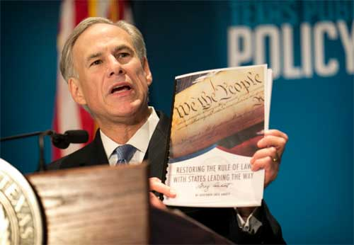 Texas governor Gregg Abbot to rewrite US Constitution