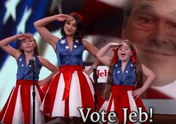 Jeb Bush Gets His Own USA Freedom Kids and Song - Jimmy Kimmel