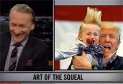 Bill Maher New Rules Shorts, silly hair and turning black, March 18 2016
