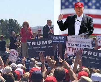 Jan Brewer and Joe Arpaio join Donald Trump gunning up the crowd for the convention