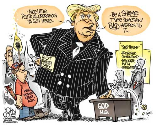 Donald Trump enters the protection racket