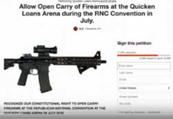 30,000 sign petition to OPEN CARRY assault rifles at GOP convention in Cleveland