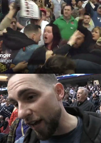 Donald Trump Gangsta fan Mike explains slapping black protester