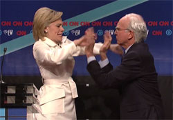 SNL Cold Open, Hillary versus Sanders debate with Larry David, April 16 2016