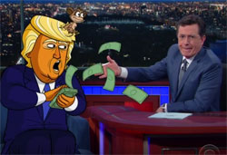 Donald Trump Bribes the Delegates, Stephen Colbert