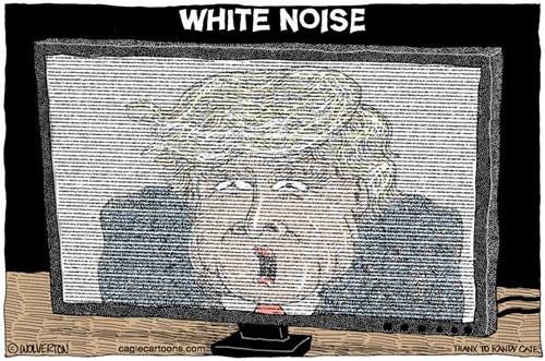 Donald Trump effect, WHITE NOISE