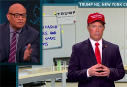 Donald Trump says he cannot have sex with his daughter because he is running for President, Nightly Show