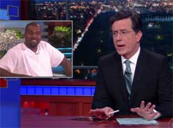 Stephen Colbert channels Kanye West to solve world problems