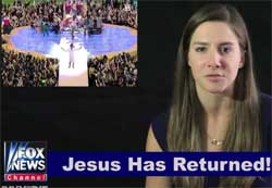 Jesus Christ Returns as a liberal socialist dogooder