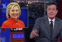 Stephen Colbert tips for Hillary to snag Republicans