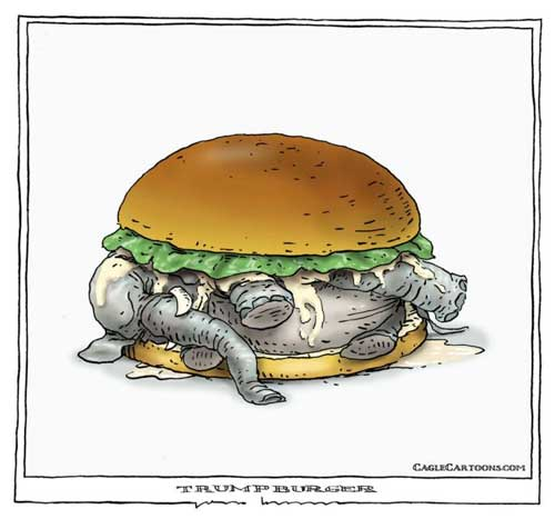 The Trump Burger, be sure to eat it all