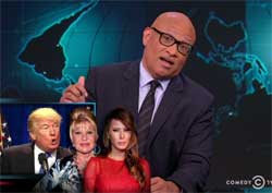 Larry Wilmore, Two Thirds of Donald Trumps wives should be deported