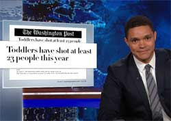 Daily Show Trevor Noah and our gun overload