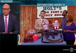 Nightly Show makes fool of Republcian Andy Hold AR 15 Giveway