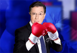Stephen Colbert takes the gloves off on gun control