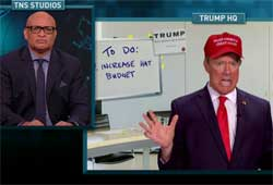 Nightly Show's Donald Trump explains his finances