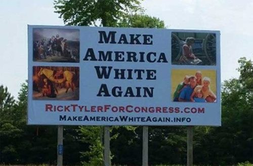 Make American White Again, Rick Tyler Polk County Tennessee for Congress