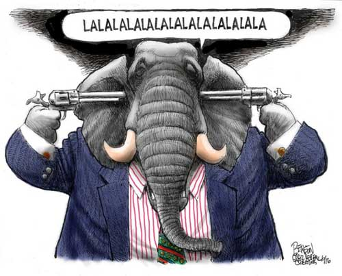 Republicans have guns growing out their ears