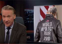 Bill Maher New Rules, Obama's Apology Tour, June 24 2016