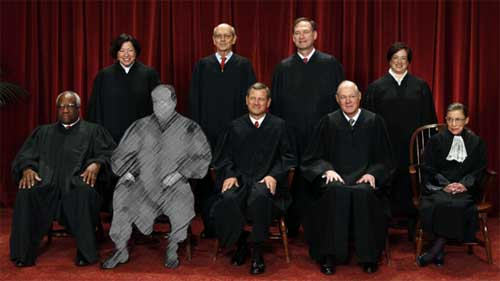 Supreme Court even with just eight goes liberal