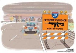 Caution, violence, next 50 years