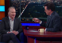 Bill Maher interview on Late Show with Stephen Colbert