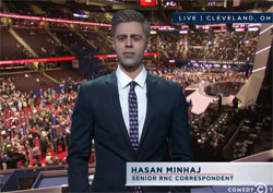 The Daily show sends a Muslim and a black guy to the GOP convention