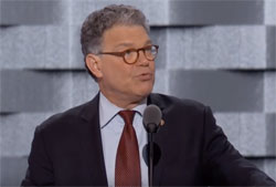 Democratic convention, Al Franken funniest U S Senator in History & graduate of Trump University