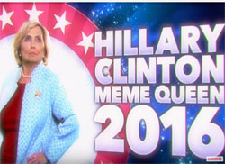 Hillary Clinton meme queen of 2016 – Rack Jite