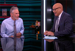 Jon Stewart joins Larry Wilmore for the Nightly Show swan song